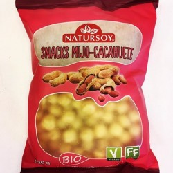 CHIPS SNACKS MIJO Y CACAHUETE 120G ECO NATURSOY