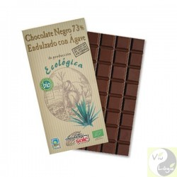 CHOCOLATE 73% NEGRO CON AGAVE 100G ECO SOLE